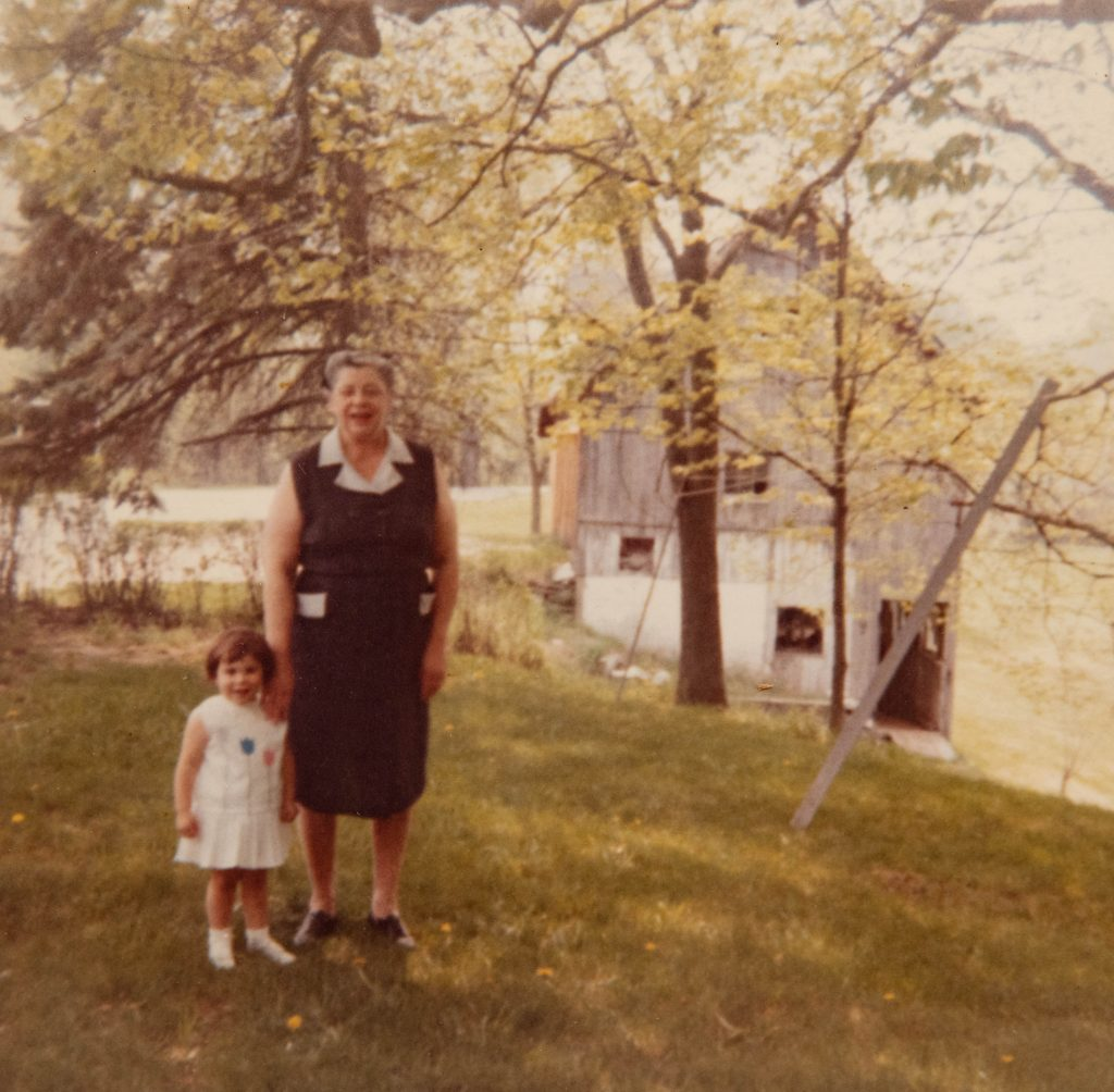 Little girl with Grandma circa 1964.
