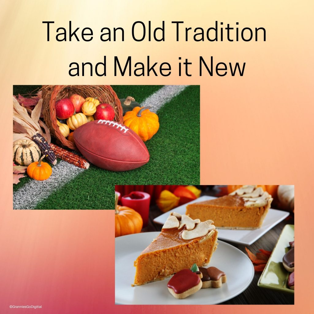 Take an old Thanksgiving tradition and update it for online video calls.